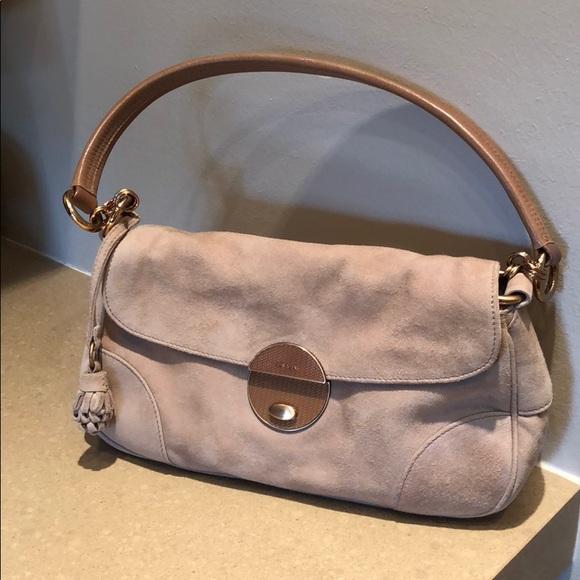 Prada Bags   Vintage Suede Shoulder Bag   Poshmark c0c80da625